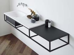 Consolle lavabo sospeso con cassetti FRAME | Consolle lavabo sospeso - Frame
