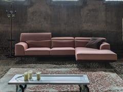 Divano sfoderabile in tessuto con chaise longue FRANK   Divano con chaise longue -