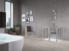 Box doccia rettangolare con porta a battenteFREE 2 U (VERSIONE BASSA) - NOVELLINI