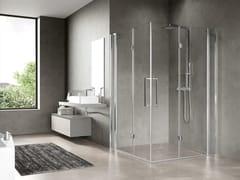 Box doccia angolare con porta a soffiettoFREE 3 3AS - NOVELLINI