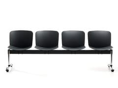 Seduta su barra a pavimento in polipropileneLIBERA BENCH | Seduta su barra a pavimento - VAGHI