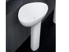 Lavabo freestanding in Cristalplant® su colonna DROP | Lavabo freestanding - Drop