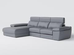Divano in tessuto a 3 posti con chaise longueFRESIA - DORMO UNIPESSOAL
