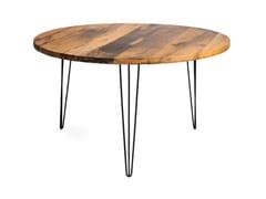 Tavolo rotondo in acciaio e legnoFRIDA | Tavolo rotondo - FOR ME LAB