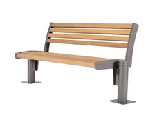 Panchina in legno con schienaleFRITZ | Panchina - EUROFORM K. WINKLER