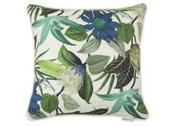 Cuscino quadrato in viscosa con motivi florealiFRONDA - GANCEDO