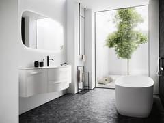 Mobile lavabo sospeso con lavabo integratoFUSION 30 - ARBI ARREDOBAGNO