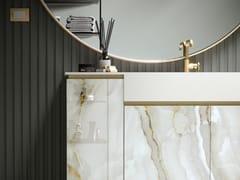 Mobile lavabo componibile da terra in vetro con lavabo integratoFUSION | Mobile lavabo da terra - ARTELINEA