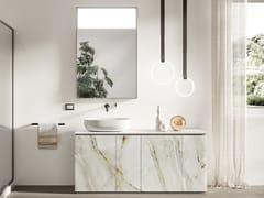 Mobile lavabo componibile da terra in vetro con anteFUSION | Mobile lavabo in vetro - ARTELINEA