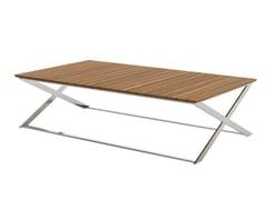 Tavolino da giardino rettangolare in teak FUSION | Tavolino rettangolare - Fusion