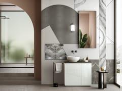 Mobile lavabo componibile singolo con anteFUSION | Mobile lavabo componibile - ARTELINEA