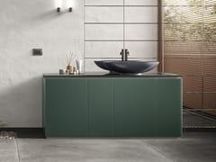 Mobile lavabo componibile da terra in cristallo con anteFUSION | Mobile lavabo - ARTELINEA