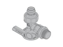 Valvola a squadra per contatore gas monotuboG6 Valvola a 90° - TECO