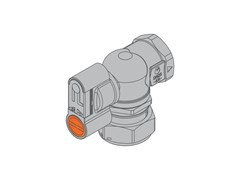 Valvola con dado girevole per contatore gas bituboG2 PA Valvola 90° frontale f/dado - TECO