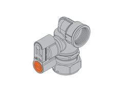 Valvola con dado girevole per contatore gas bituboG2 PA Valvola 90° destra f/dado girevole - TECO