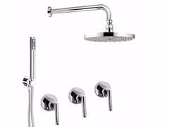 Set doccia incasso con deviatore, soffione e doccetta G4 - F7715W2KS - G4