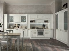 Cucina lineare in legno con maniglieGALA 02 - FEBAL CASA