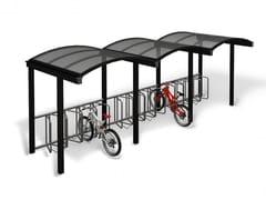 Pensilina in metallo per biciclette e motoriniGALLERIA | Pensilina - EUROFORM K. WINKLER