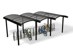 Pensilina in metallo per biciclette e motoriniGALLERIA | Pensilina per biciclette e motorini - EUROFORM K. WINKLER
