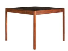 Tavolo da gioco in legno massello con piano in pelleLEATHER DESK | Tavolo da gioco - BASSAMFELLOWS
