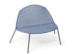 Sedia da giardino in alluminio con braccioli con schienale