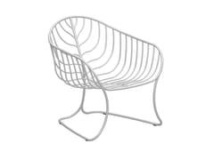 Poltrona da giardino in acciaio inox con braccioliFOLIA | Poltrona da giardino - ROYAL BOTANIA