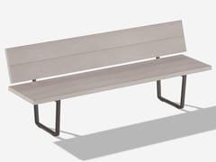 Panca da giardino in alluminio effetto legno con schienaleORIZON | Panca da giardino con schienale - FAST