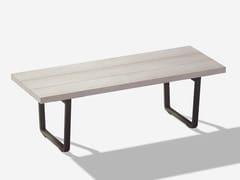 Panca da giardino in alluminio effetto legnoORIZON | Panca da giardino - FAST