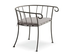 Sedia in metallo con braccioliBAHAMAS | Sedia da giardino - CANTORI
