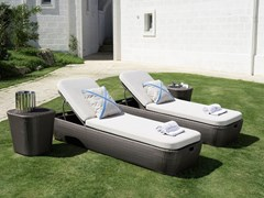 Lettino da giardino reclinabile in fibra sinteticaMOOD | Lettino da giardino - BRAID COMPANY