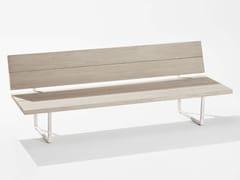Divano lounge da giardino in alluminio effetto legnoORIZON | Divano da giardino - FAST