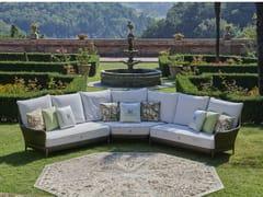 Divano da giardino a 5 posti angolare componibileARALIA | Divano da giardino - DFN
