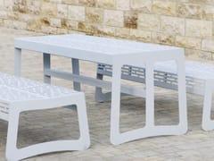 Tavolo per spazi pubblici rettangolare in acciaio inoxCHALIDOR 200 | Tavolo per spazi pubblici - BENKERT BÄNKE