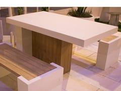 Tavolo da giardino rettangolare in pietra leccesePRUA | Tavolo da giardino - PIMAR