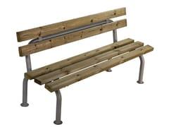 Calzolari, GARDENIA Panchina in legno con schienale