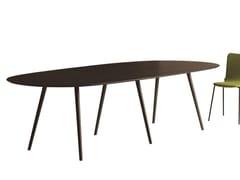 Capdell, GAZELLE OVAL Base per tavoli in alluminio