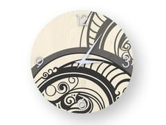 Orologio da parete in legno intarsiato GEAR COLD | Orologio - DOLCEVITA ABSTRACT
