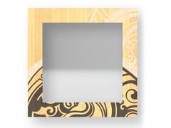 Specchio quadrato da parete con cornice GEAR WARM   Specchio - DOLCEVITA ABSTRACT