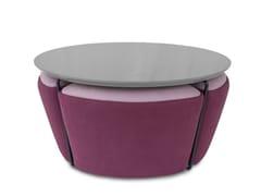 Tavolino da caffè rotondo in MDFGEMMA | Tavolino in MDF - ALTINOX MINIMAL DESIGN
