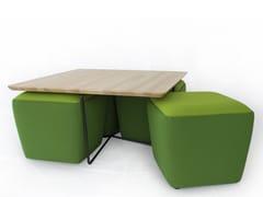 Tavolino da caffè quadrato in acciaio e legnoGEMMA | Tavolino in acciaio e legno - ALTINOX MINIMAL DESIGN