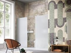Inkiostro Bianco, GENESIS EQ Carta da parati in fibra di vetro EQ Dekor per bagno