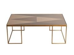 Tavolino rettangolare in vetro GEOMETRIC COFFEE TABLE | Tavolino rettangolare -