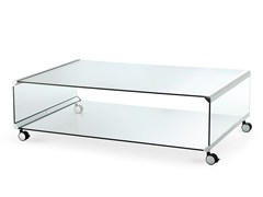 Tavolino in cristallo con ruote GEORGE 2 -