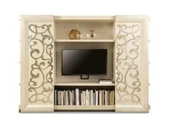 Libreria in legno con porta tv GEORGE   Libreria con porta tv - George