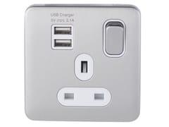 Presa elettrica multipla in acciaio inox con USBGGBL30102USBAWSSS - SCHNEIDER ELECTRIC INDUSTRIES