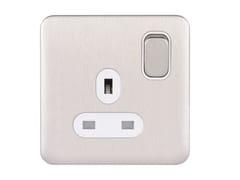 Presa elettrica singola in acciaio inoxGGBL3010WSS - SCHNEIDER ELECTRIC INDUSTRIES