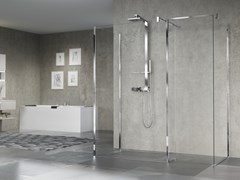 Parete per doccia in vetro GIADA H10 - Giada H