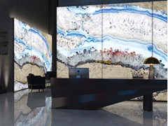 Pannello decorativo luminoso in PMMAGIANT AGATE - TECNOGRAFICA