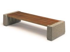 Panchina senza schienale in legno e calcestruzzo armatoGINESTRA   Panchina senza schienale - CALZOLARI