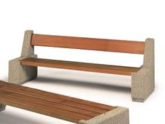 Panchina con schienale in legno e calcestruzzo armatoGINESTRA   Panchina con schienale - CALZOLARI